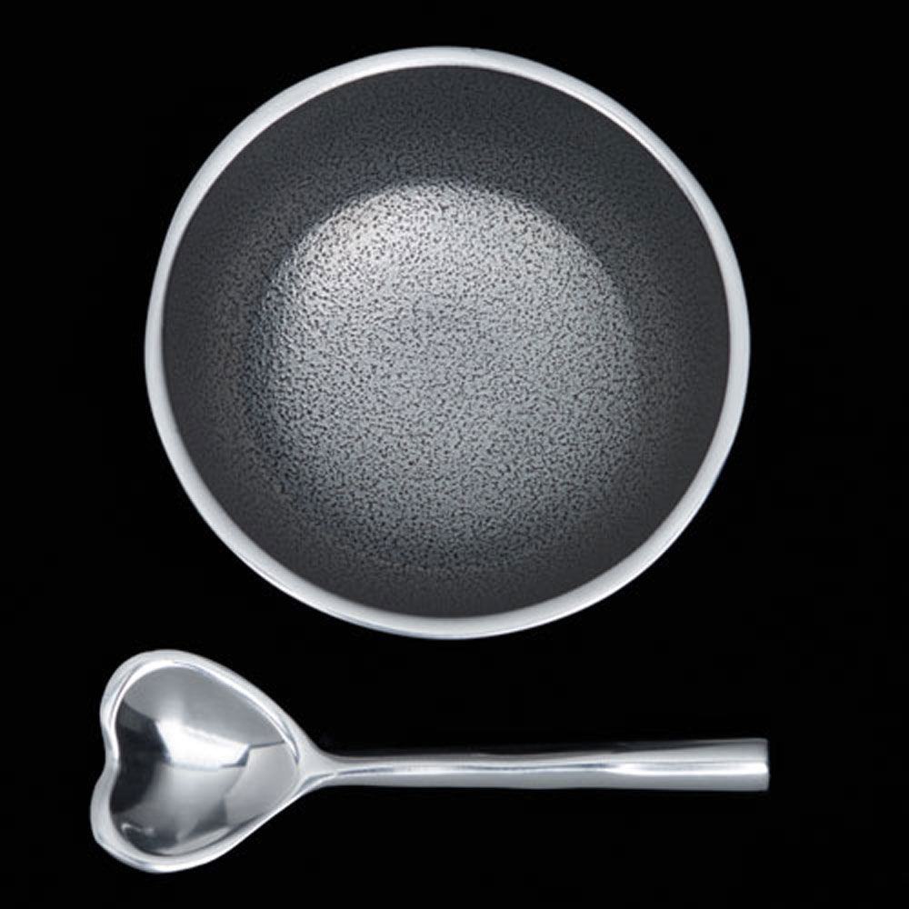 Dot Plain with Heart Spoon