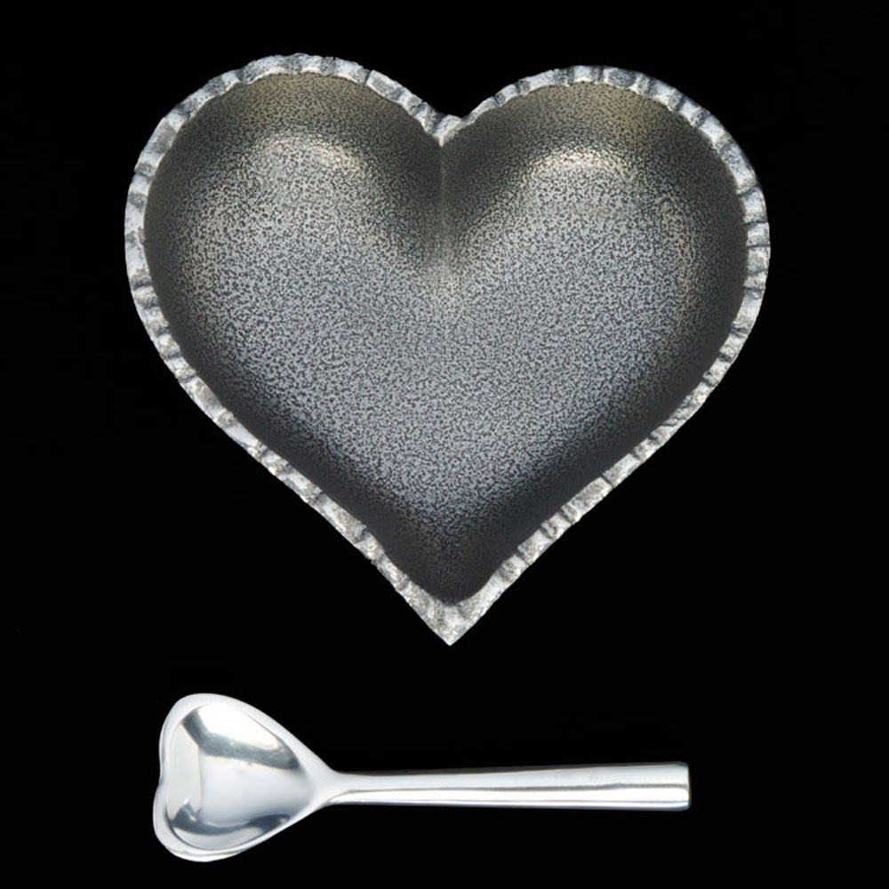 Jazzy Silver Heart with Heart Spoon