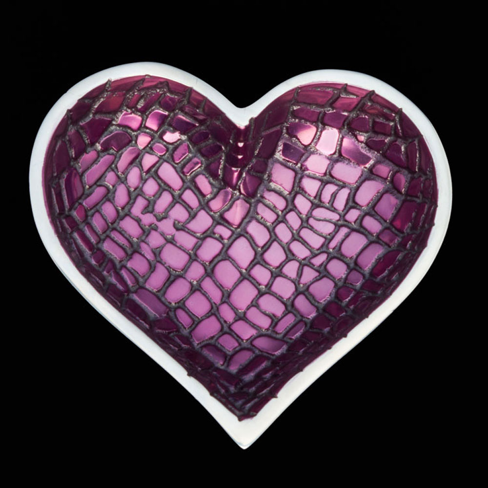 Croco Plum with Heart Spoon