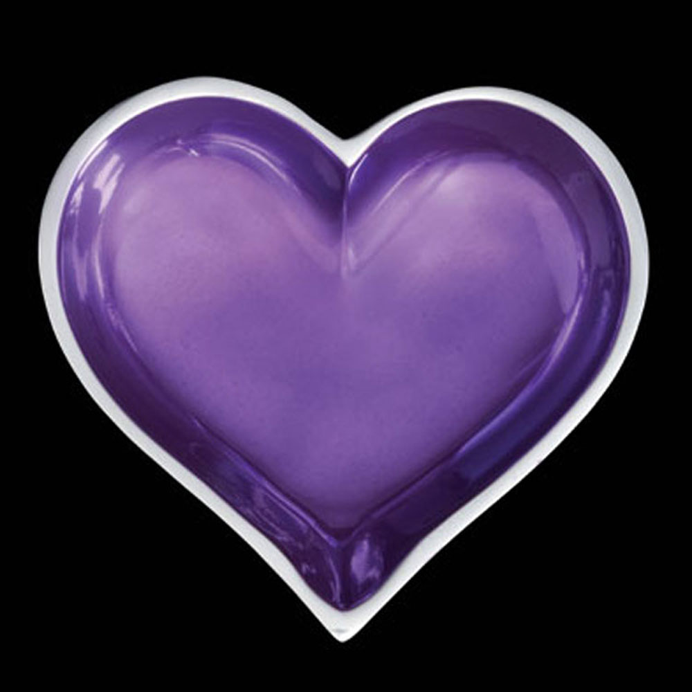 Tiny Amethyst Purple Heart