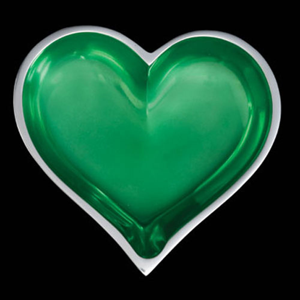Tiny Emerald Green Heart