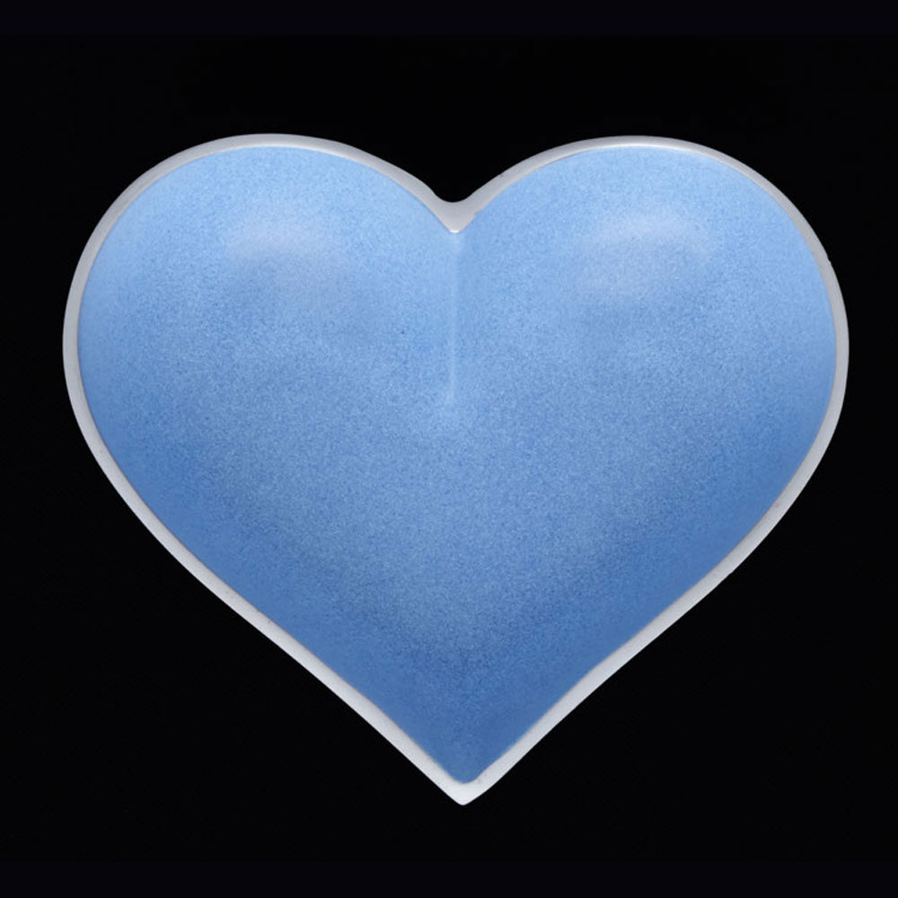 Happy Powder Blue Heart with HEART SPOON