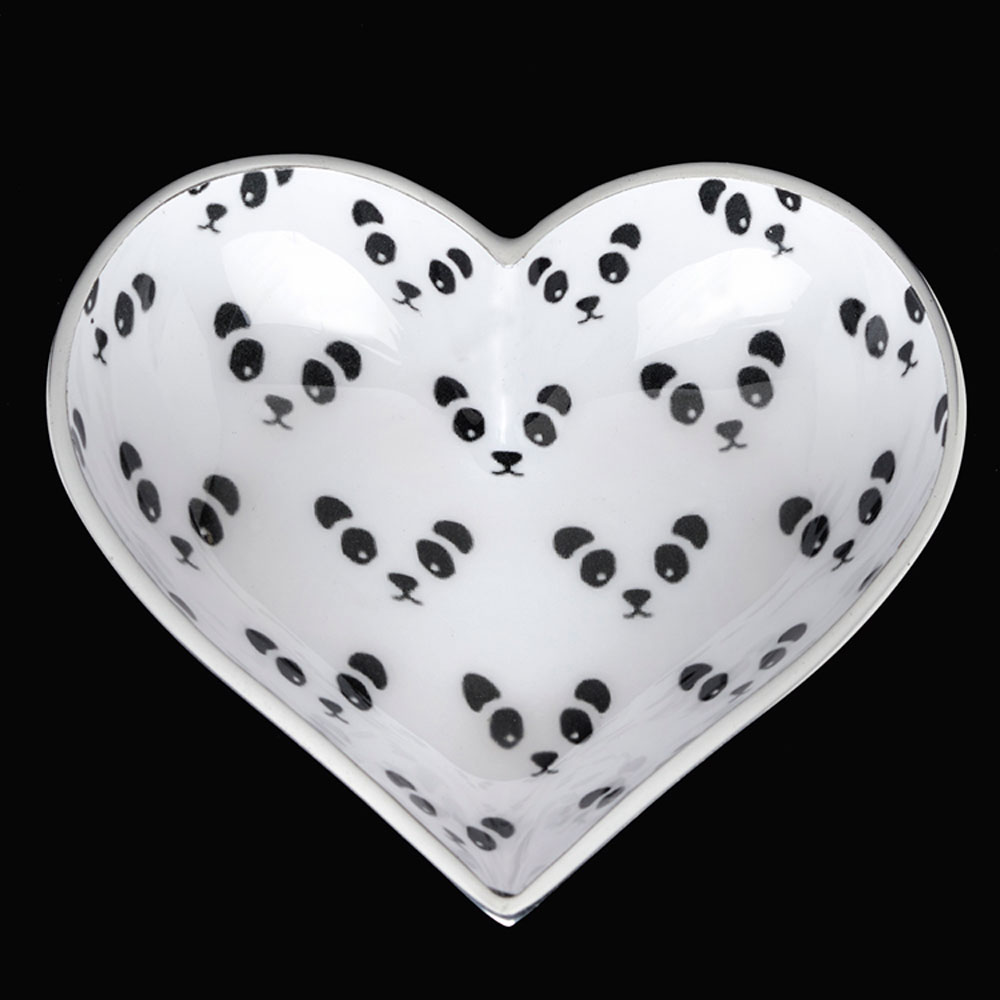 Happy Panda Heart with Heart Spoon