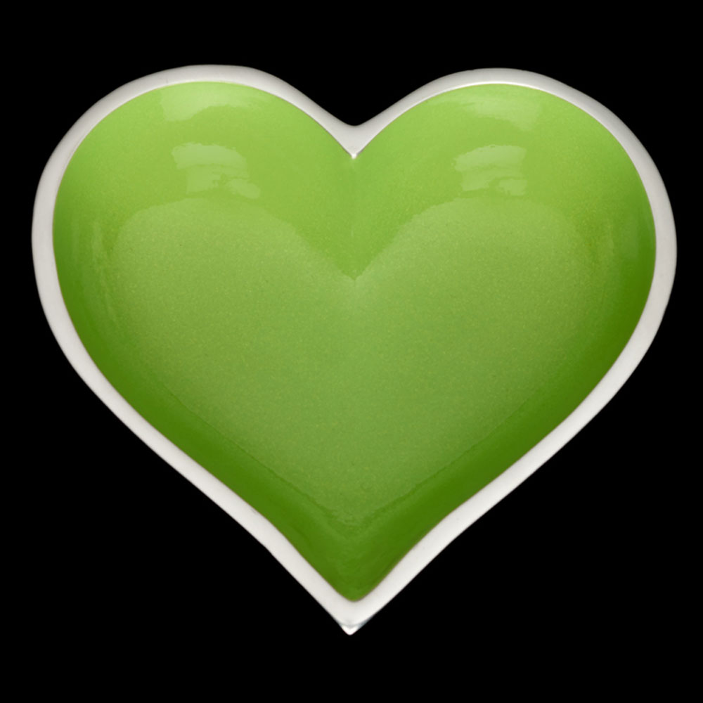 Happy Granny Smith Heart  with Heart Spoon