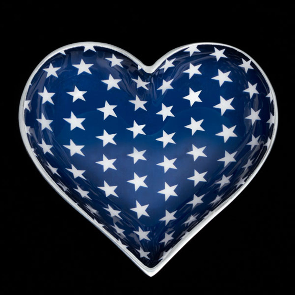 Happy Blue Heart White Star with HEART SPOON