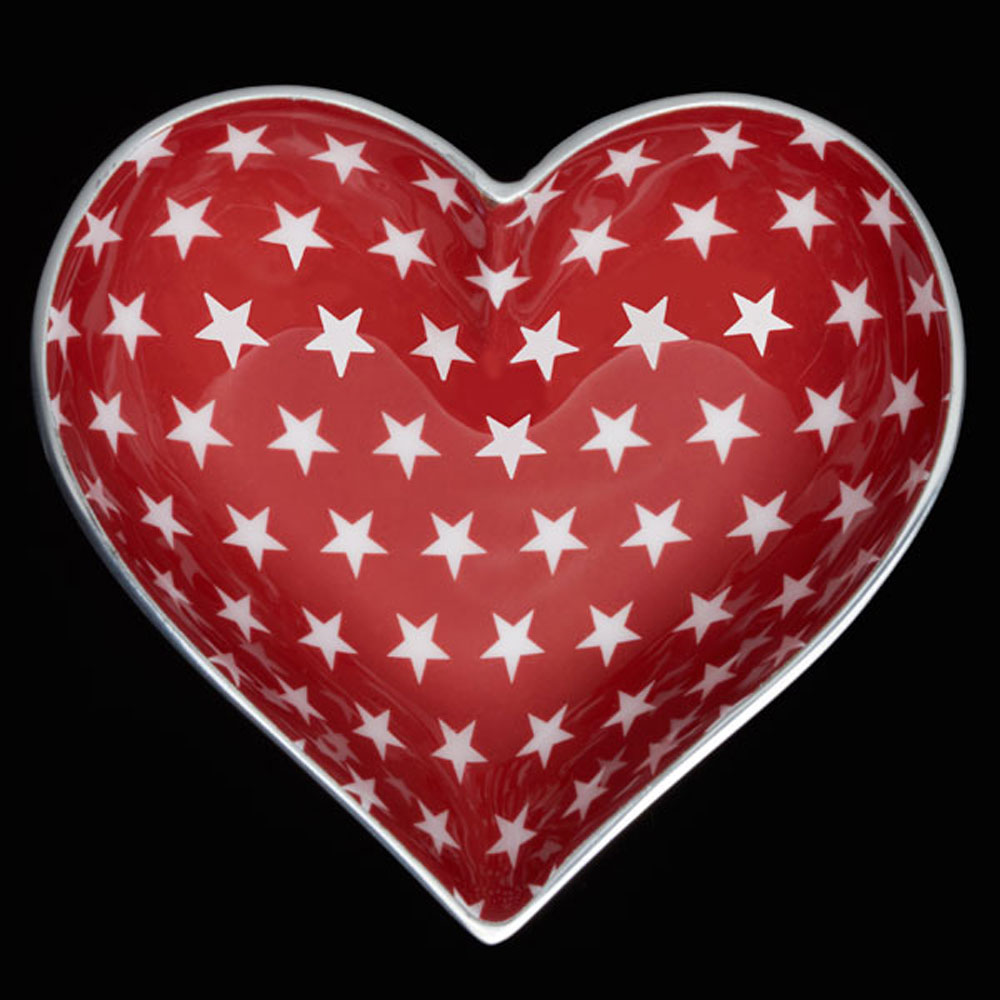 Happy Red Heart White Star with HEART SPOON