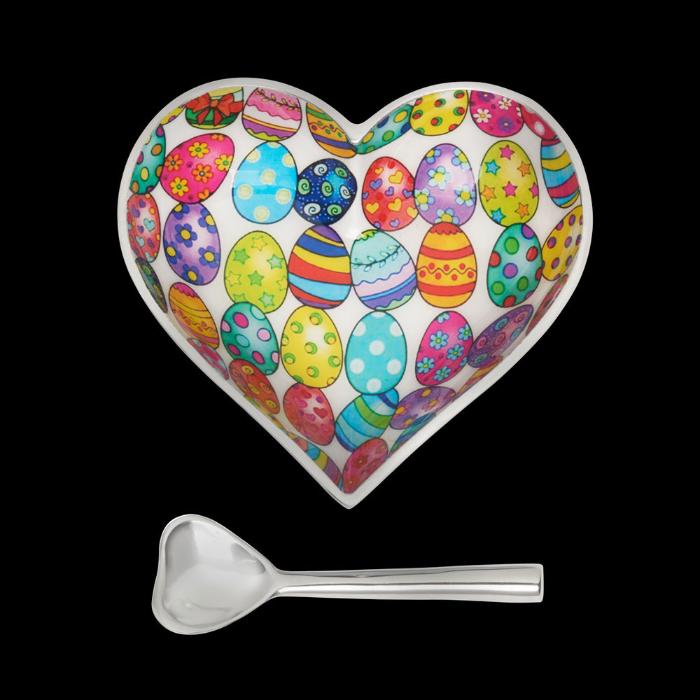 Happy Easter Heart with Heart Spoon