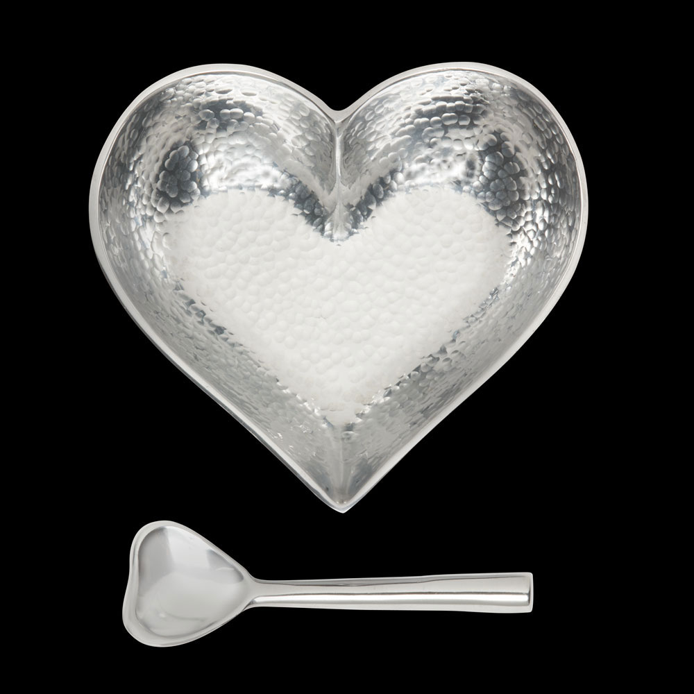 Happy Hammered Heart with Heart Spoon