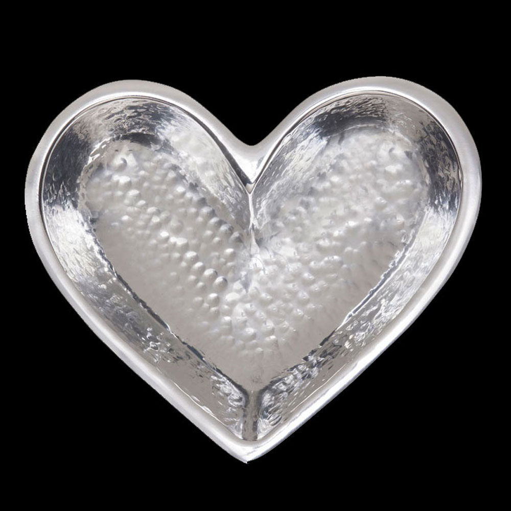 Tiny Silver Hammered Heart