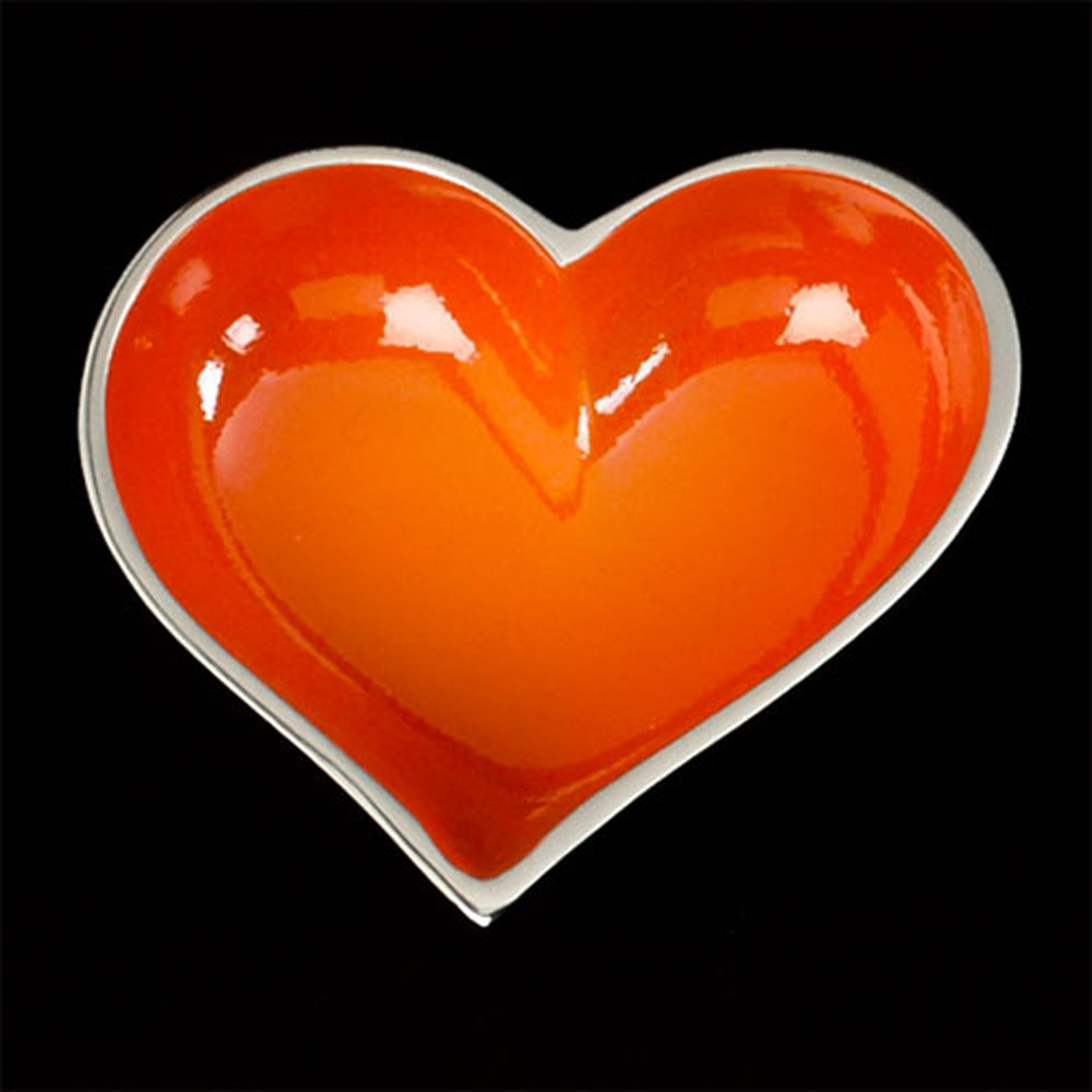 Happy Orange Heart with Heart Spoon