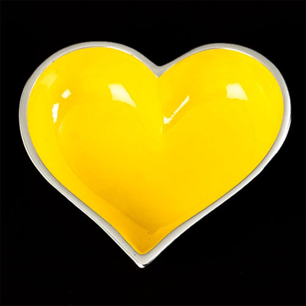 Happy Yellow Heart with Heart Spoon