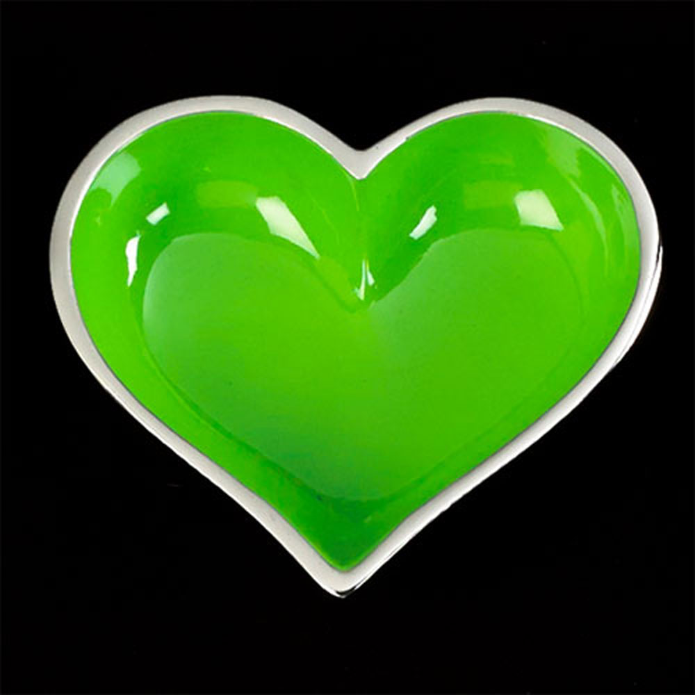 Happy Green Heart with Heart Spoon