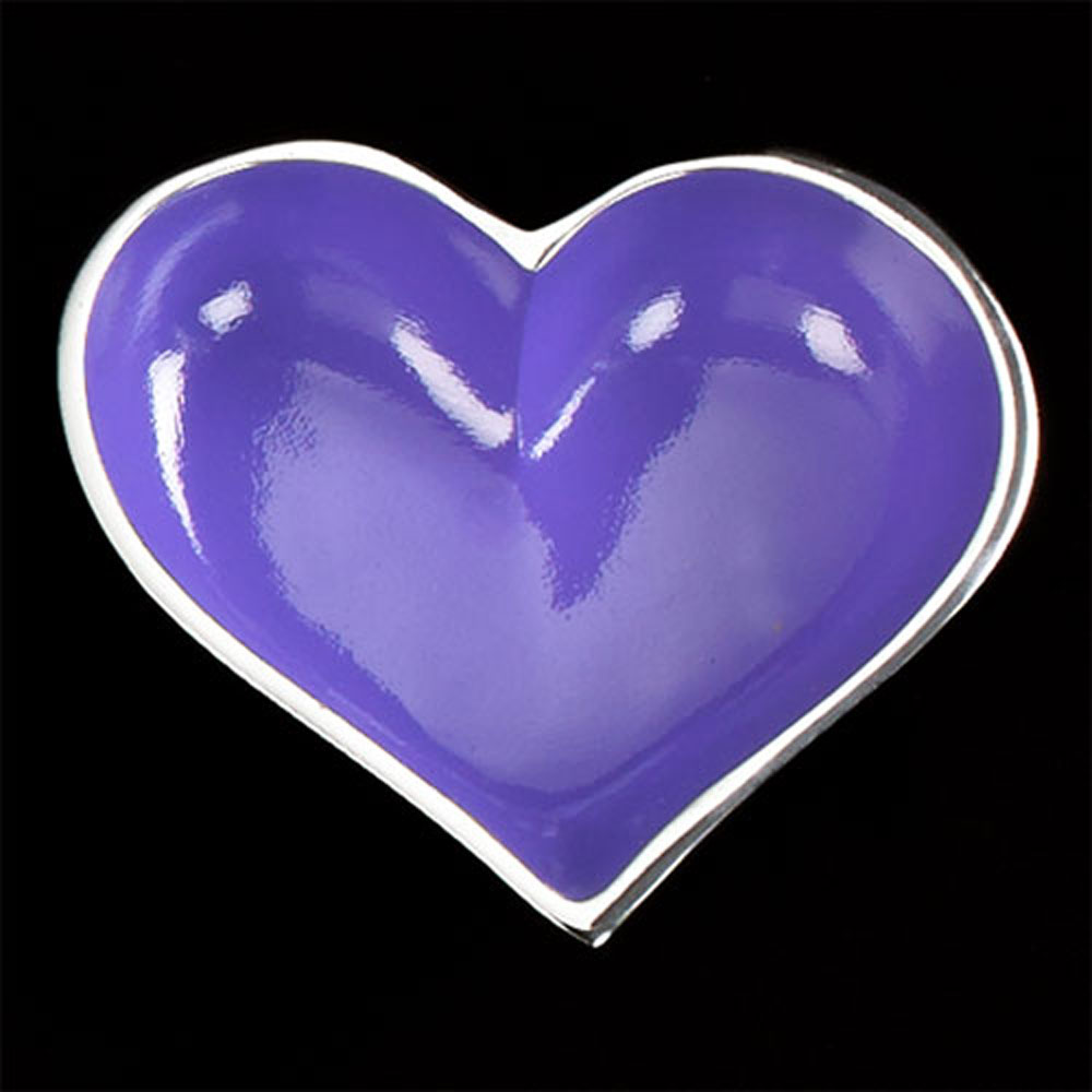 Happy Purple Heart with Heart Spoon