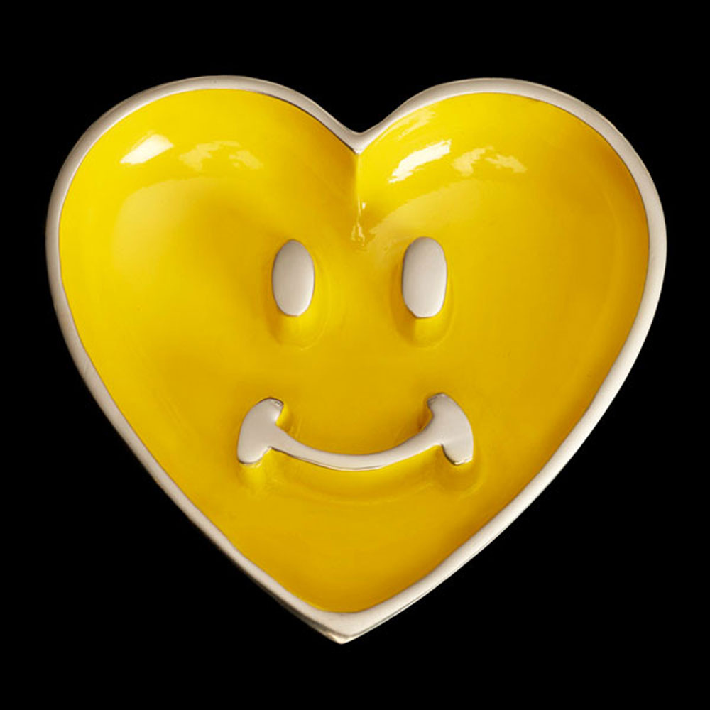 Pauli Smile Heart with Heart Spoon Yellow