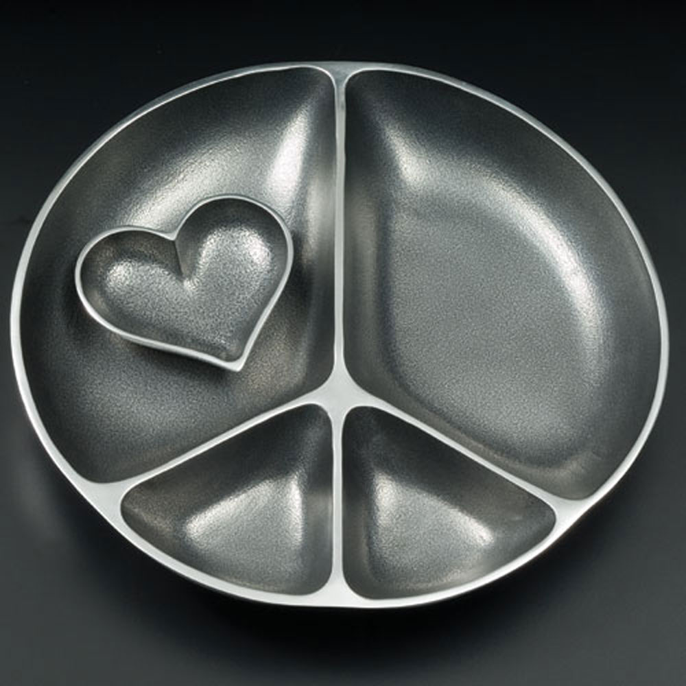 Serving Peace with Heart Dish