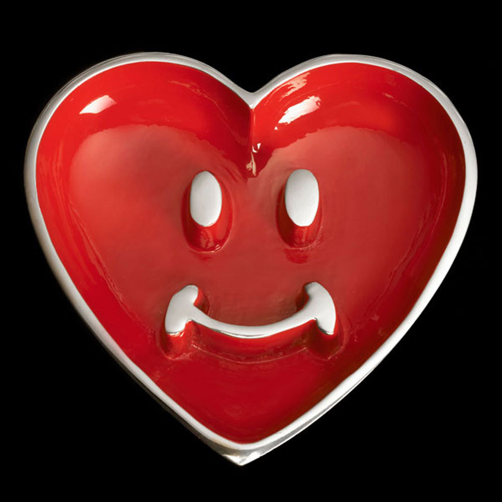 Pauli Smiley Heart with Heart Spoon Red