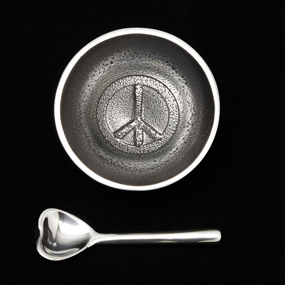 Dot Peace with Heart Spoon