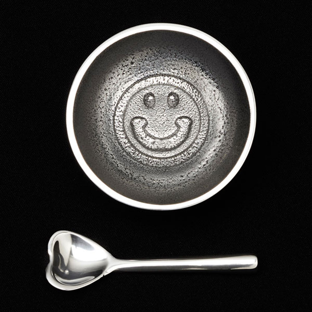 Dot Smiley with Heart Spoon
