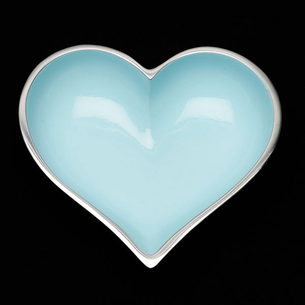 Happy Baby Blue Heart with Heart Spoon