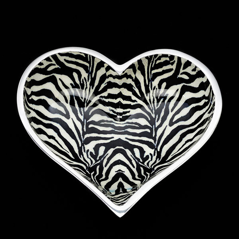 Wild Zebra Heart with Heart Spoon