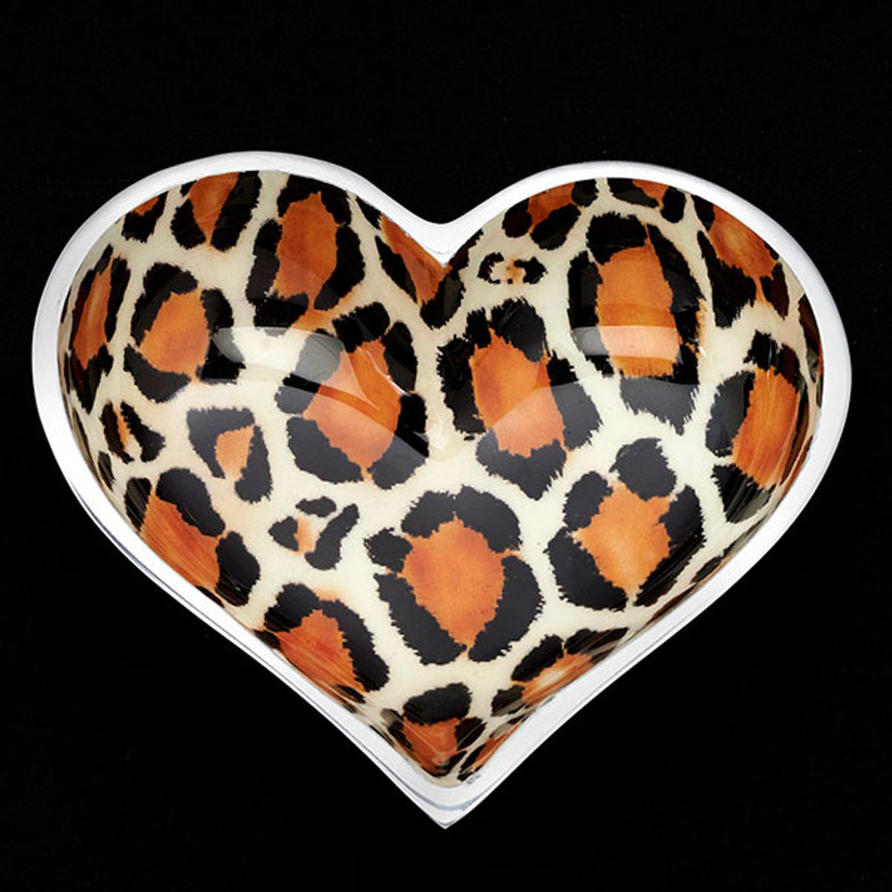 Wild Leopard Heart with Heart Spoon