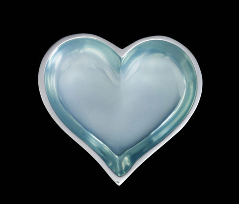 March Aquamarine Heart With Heart Spoon